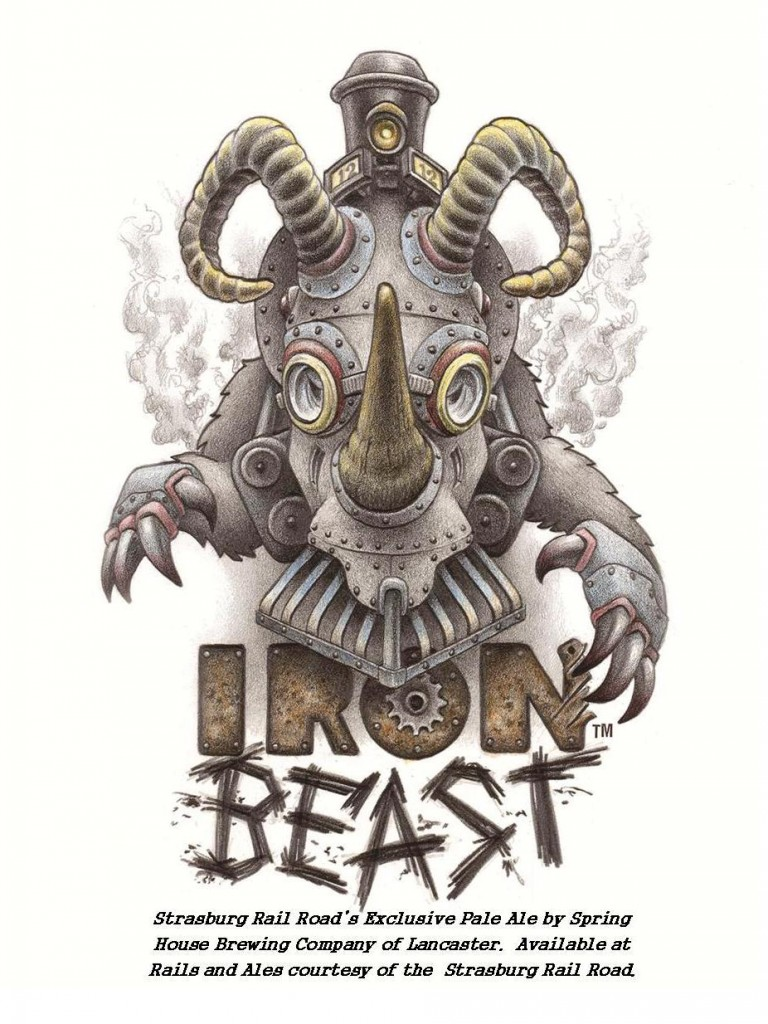 Iron Beast Strasburg Rail Road Logo for Rails and Ales Final